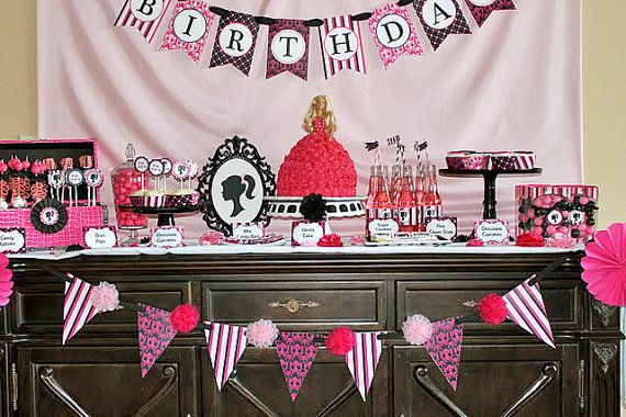 DIY Barbie Inspired Deluxe Birthday Party by CupcakeExpress 3500
