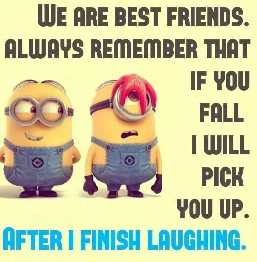 Minion meme best friend | Funny minion quotes, Minions ...