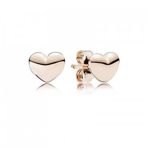 Pandora Rose Gold Pee Hearts Stud Earrings Online