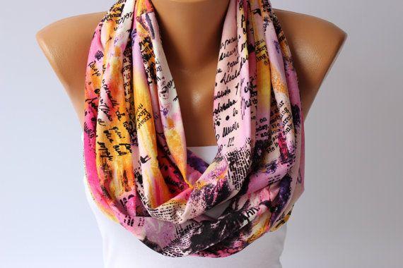 infinity scarf loop scarf scarf  por SenaDesign en Etsy
