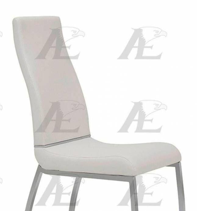 American Eagle Furniture Ck 1532c W White Pu Dining Chair: American Eagle Furniture CK-1532D-W White PU Dining Chair