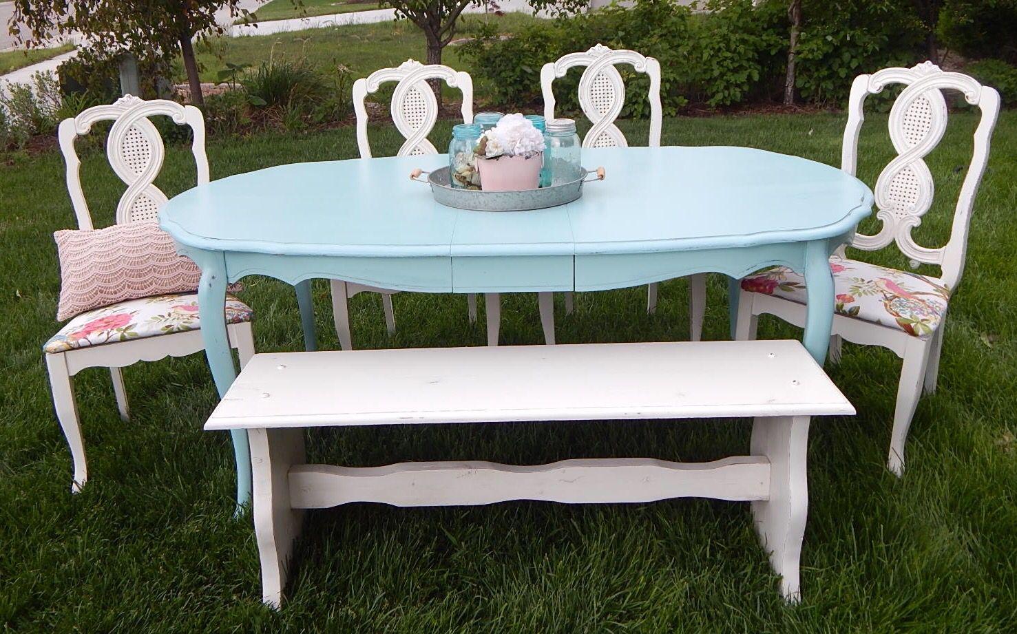 Brilliant Refurbished Frenchie Vintage Dining Set Floral Fabric Pink Inzonedesignstudio Interior Chair Design Inzonedesignstudiocom