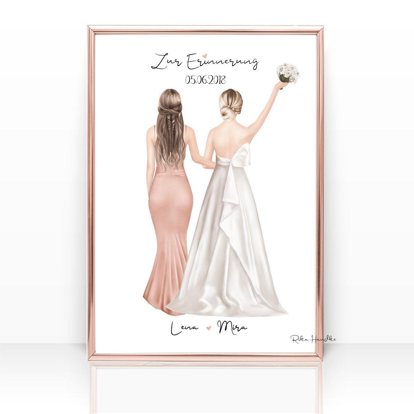Personalisiertes Geschenk Trauzeugin Brautjungfer Geschenk Beste Freundin Freundinnen Danksagung Hochzeit Hochzeitsgeschenk Erinnerung Trauzeugin Und Brautjungfern Trauzeugin Trauzeugin Geschenk