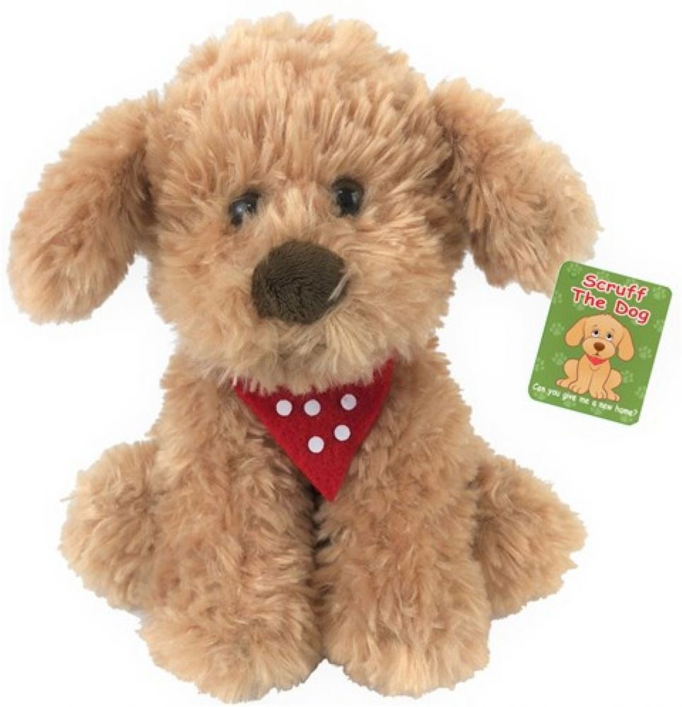 6 X Plush Scruff The Dog 20cm Wholesale teddy bears