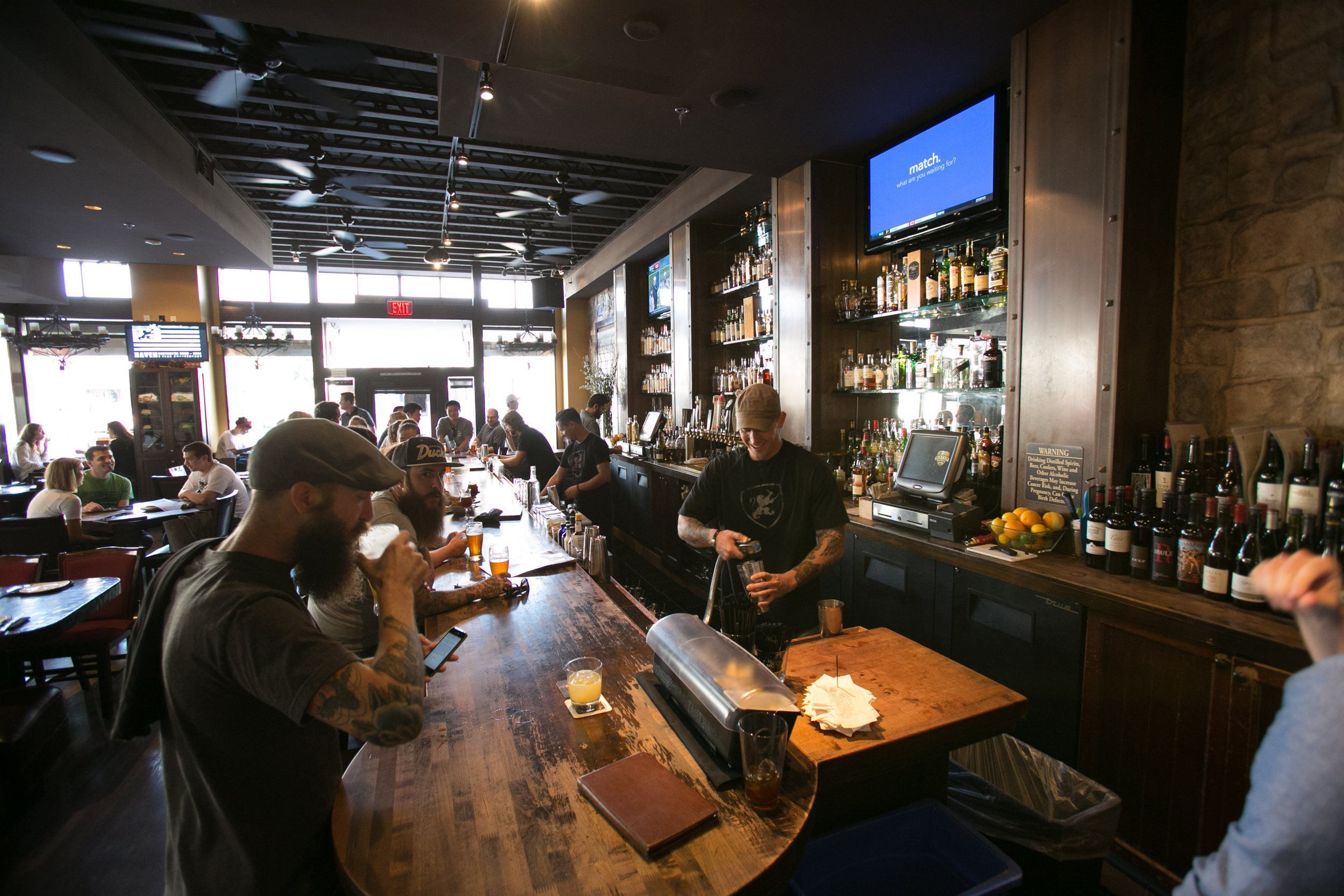 Haven Gastropub Is A Bustling Bar With Rotating Selection Of Beer Sophisticated American Pub Fare Amid Modern Decor Restaurant Bar Orange City Kitchen Bar