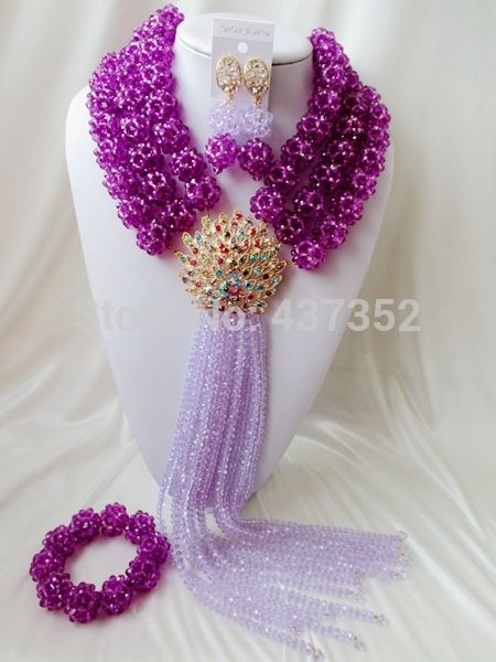 Find More Jewelry Sets Information about Purple ball lilac strands Crystal Beads Bridal Costume Jewelry Nigerian wedding african beads jewelry set AAC336,High Quality jewelry pink,China jewelry hiphop Suppliers, Cheap jewelry wood from Alisa's Jewelry DIY Store on Aliexpress.com