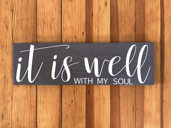 Wall Decor Signs For Home Fascinating Christian Signs Scripture Wall Art Scripture Signs It Is Well Review
