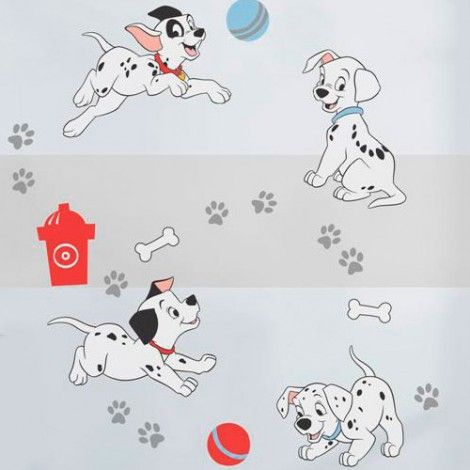 101 Dalmatians Wall Decals Puppy Nursery Theme Nursery Neutral Puppy Nursery