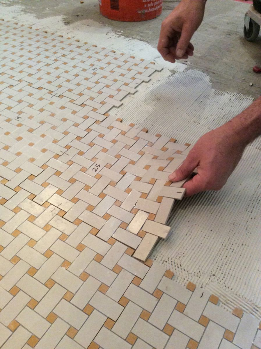 arts and crafts tile floors