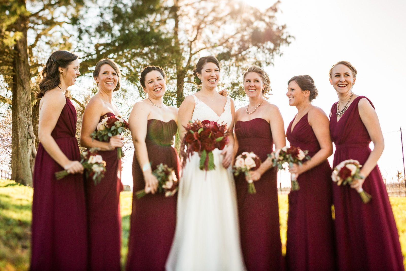 Wine colored bridesmaid dresses winery wedding romantic outdoors wine colored bridesmaid dresses winery wedding romantic outdoors ombrellifo Gallery