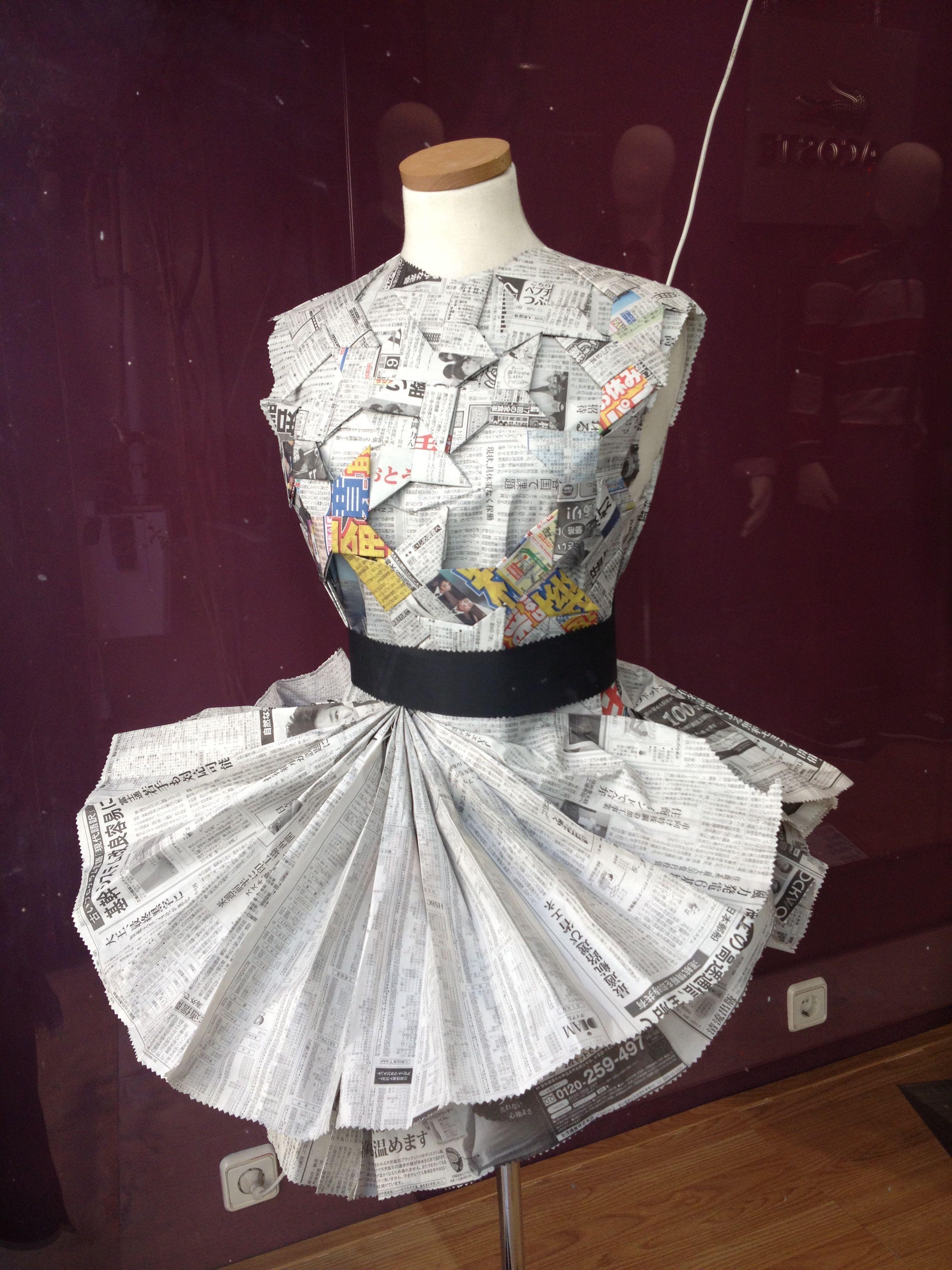 Vestido Papel De Periódico Japonés Vestidos De Papel
