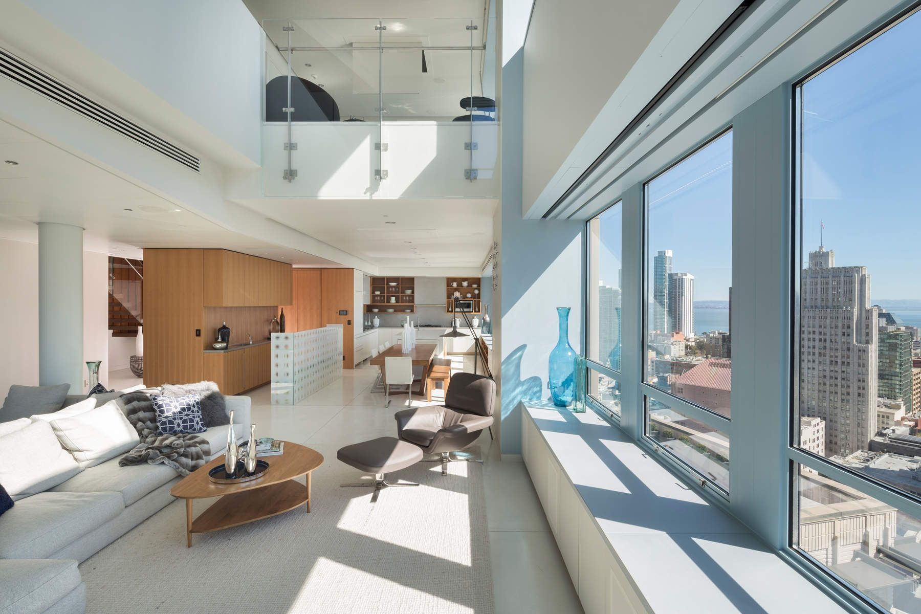 Fesselnd Two Story Penthouse Taking Advantage Of California Sunlight In San  Francisco. [1800x1200]