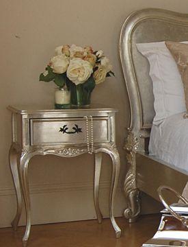 Pin By Megan Levine On Furniture 2015 Metallic Painted Furniture