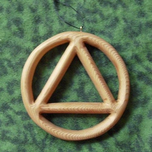 Miniature Sobriety Circle And Triangle Alcoholics Anonymous Symbol