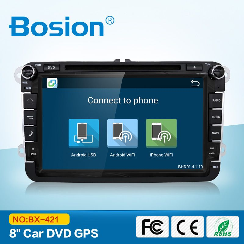 8'' Car DVD Player for VW Vehicles with GPS Navigation Bluetooth Car Stereo Radio/Video in Dash Support 3G/WiFi iPod USB/SD SWC Full Functions