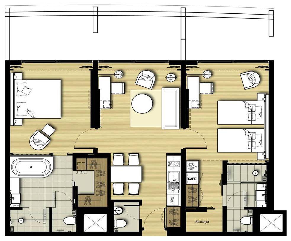 service apartment floor plan - Google 搜尋 | floor plan ...