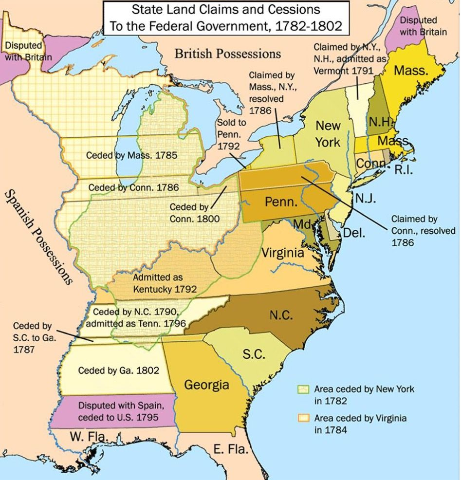 1782-1802 map of state and territory changes | Genealogy ...
