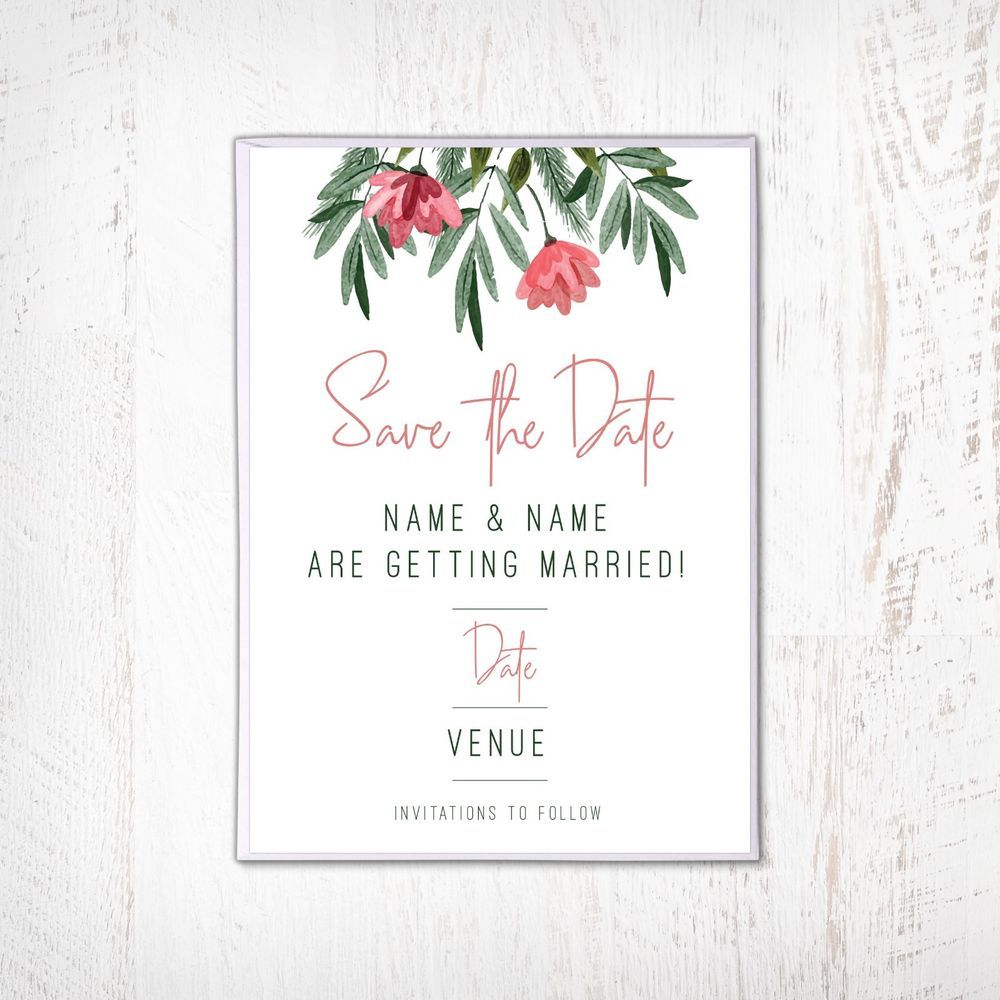 Premium Personalised Save The Date Cards 400gsm High