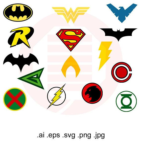 Superheroes Svg Clipart Justice League Vector Printable Symbol Cut