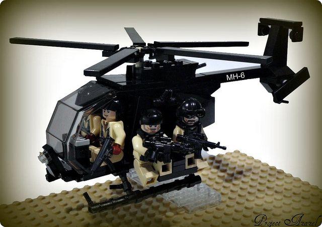 Mh 6 Little Bird By Pa Semper Fi Via Flickr Lego Instructions