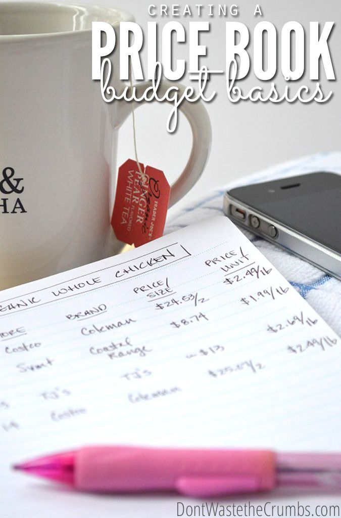 Grocery Budget Basics Creating a Price Book Pinterest True cost - simple budget