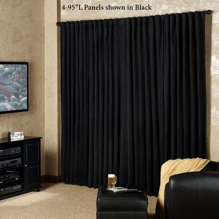 Absolute Zero Eclipse Home Theater Blackout Curtain Panel Home Theater Curtains Home Theater Seating Home Theater Furniture