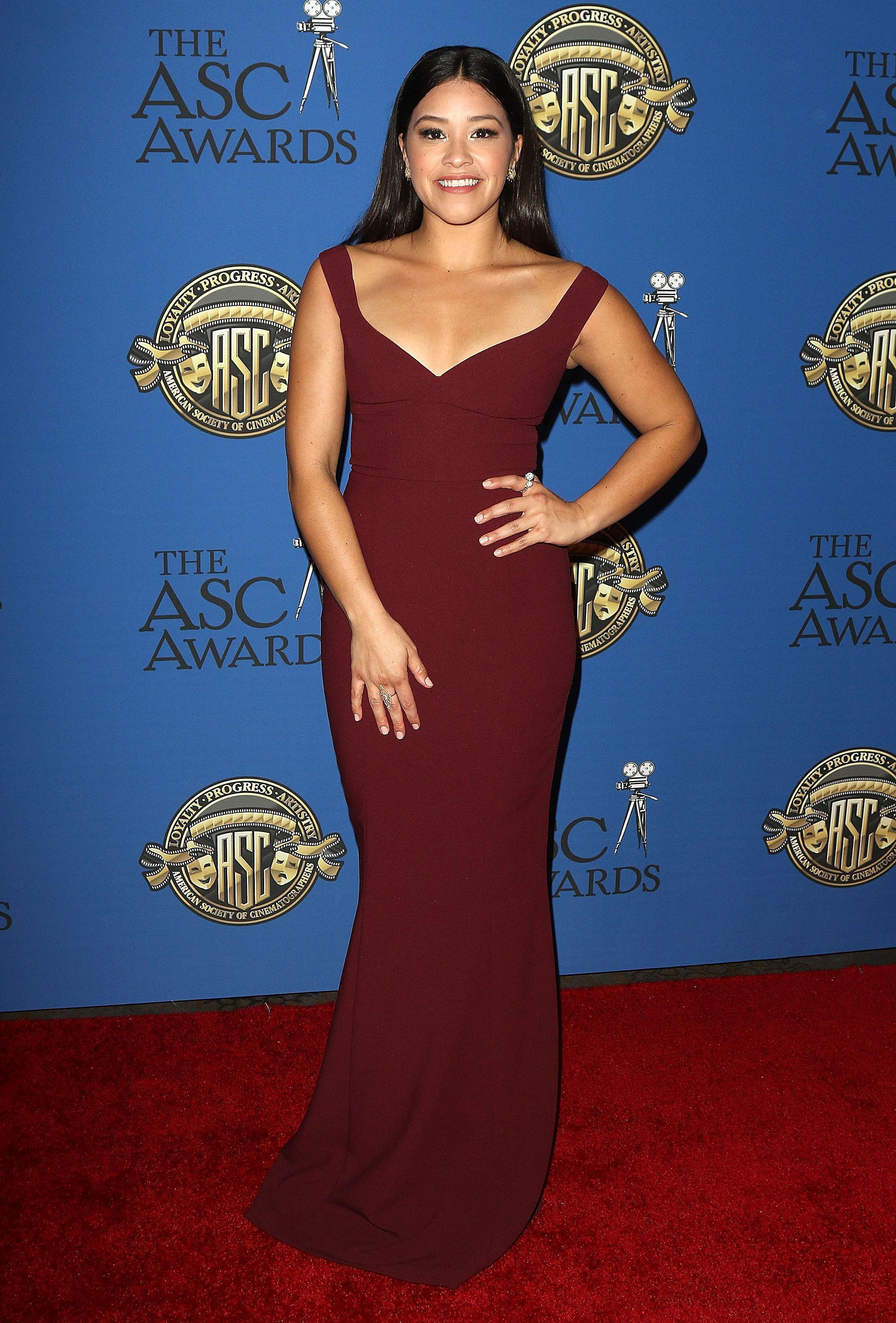 Gina Rodriguez at the ASC Awards