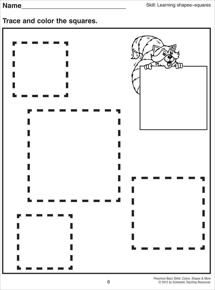 Printable Worksheets trace worksheets for preschoolers : square tracing worksheet - Αναζήτηση Google | Giáo dục | Pinterest ...
