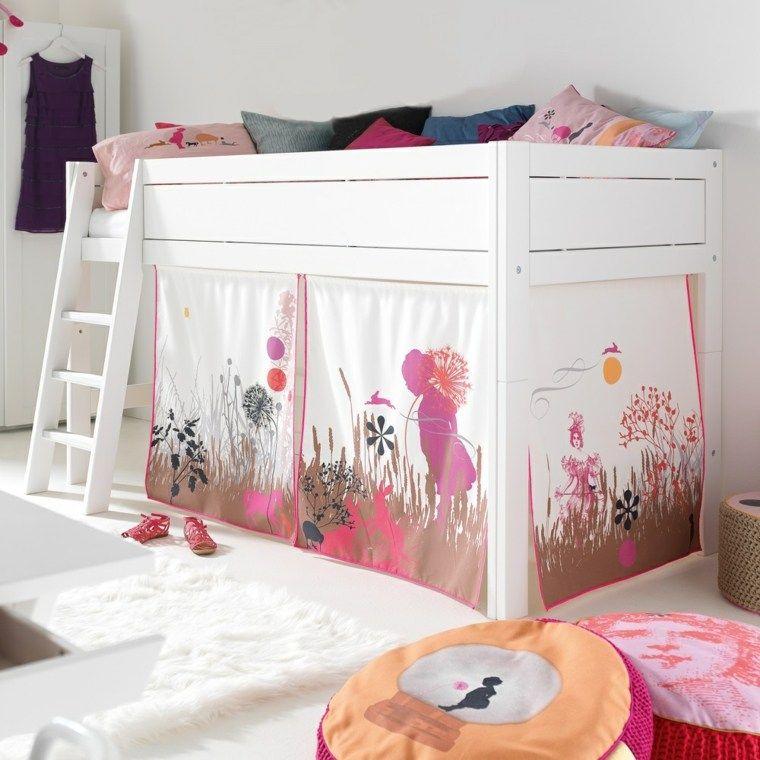 id e pour lit cabane fille avec voile pour chambre d 39 enfant chambre clara pinterest. Black Bedroom Furniture Sets. Home Design Ideas