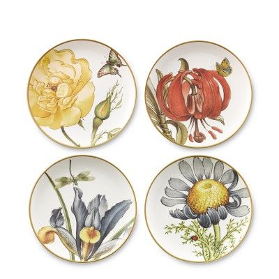 jardin des fleurs plates set of 4 williamssonoma. Black Bedroom Furniture Sets. Home Design Ideas