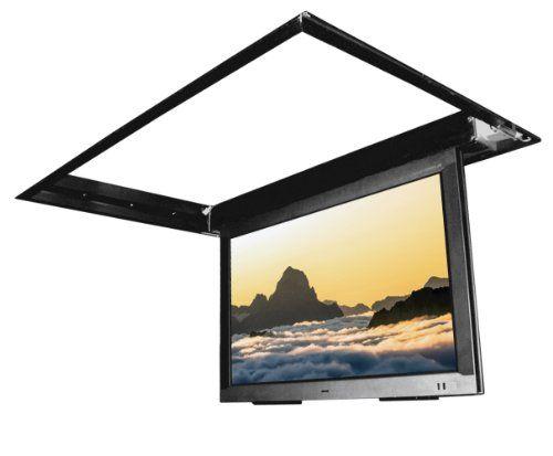 Flp 410 in ceiling flip down motorized tv mount for 60 75 for Motorized ceiling drop down tv mount
