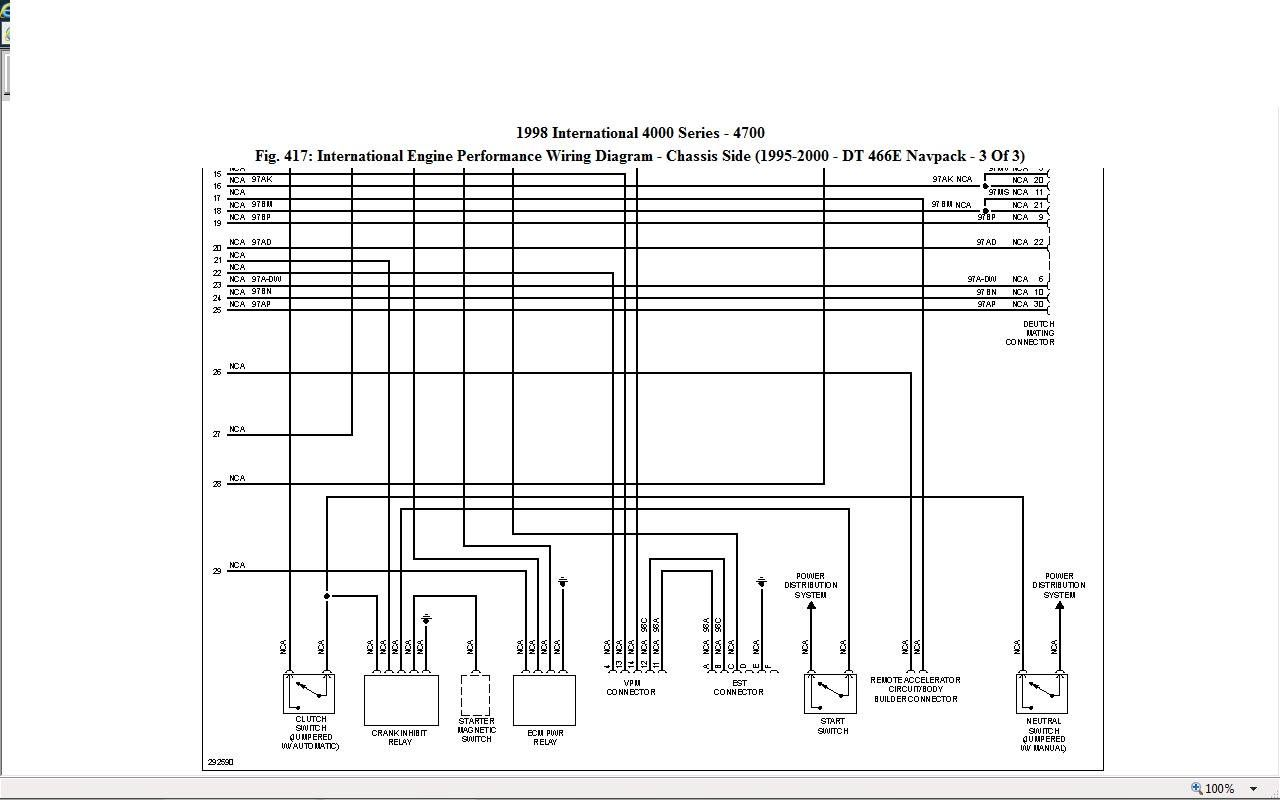 I Need Pin Out For 1807457c1 Ecm On Dt466 Engine In International 4900 In 2020 International Truck Diagram Engineering