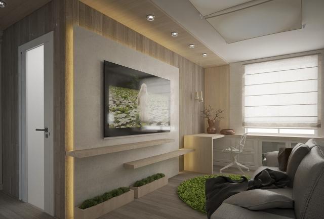 wohnzimmer modern einrichten kleiner raum indirekte beleuchtung ...