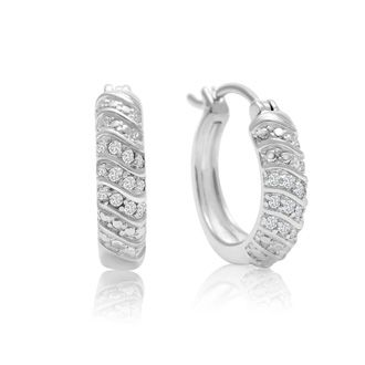Diamond Hoop Earrings Superjeweler 1 4 Carat 4 Row Diamond Hoop Earrings 1 2 Inch Diamond Hoops Diamond Earrings Studs Jewelry