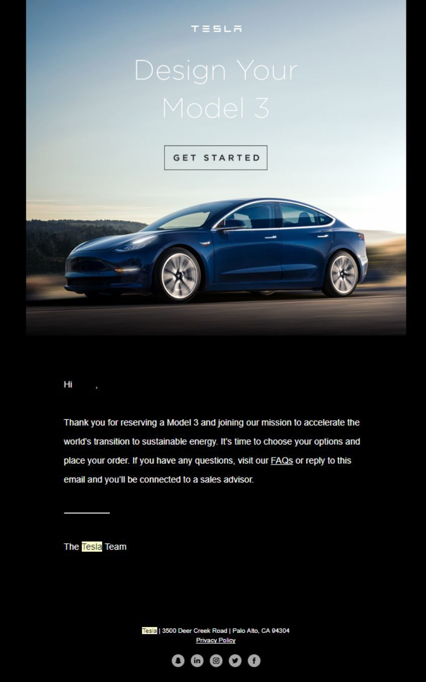 Tesla Model   Invites  Menus    Tesla S And Models