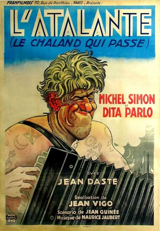 L Atalante 1934 Jean Vigo Movie Posters Movie Poster Art Poster