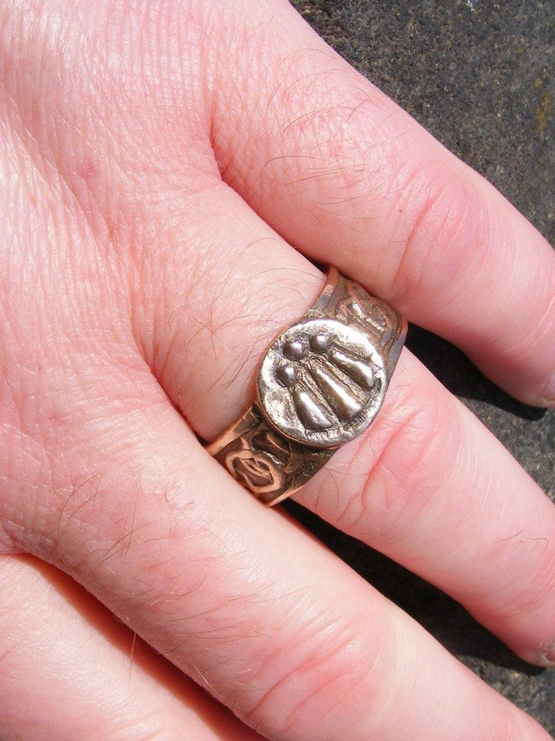 Awen Druid Bronze Ring (Large) Handmade by the Green Man | jewelry ...