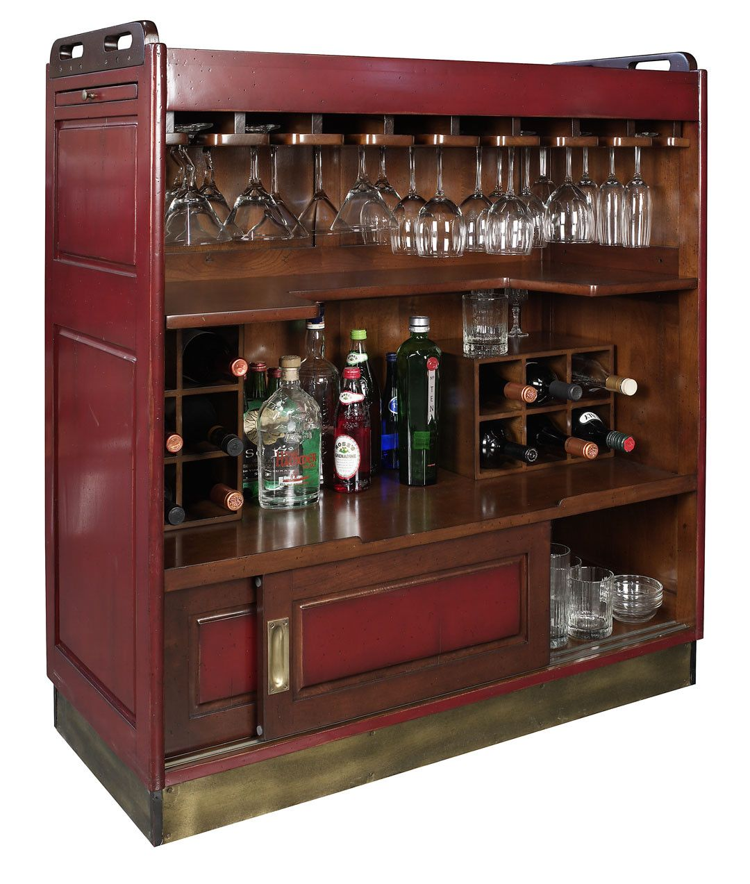 Casablanca Bar In Red Gonautical Bar Furniture Home Bar Furniture Nautical Home Decorating