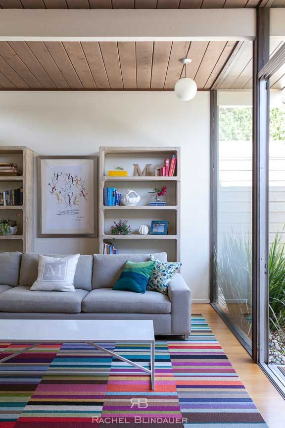 A little color pop in a mid century modern eichler by rachel blindauer interior design