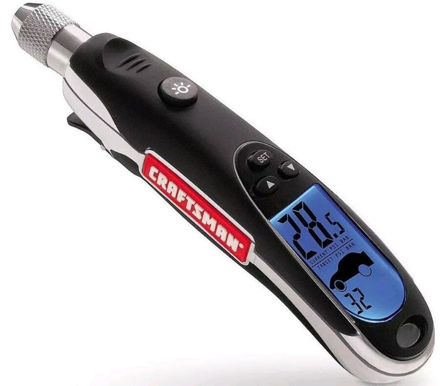 Craftsman Programmable Digital Tire Pressure Gauge With Led Display And Battery Tire Pressure Gauge Tyre Gauge Digital Pressure Gauge
