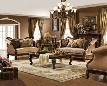 Premium Italian Leather Sectional sofa set living room furniture