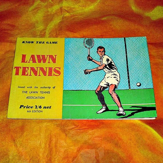 Vintage Know The Game Series Lawn Tennis Paperback Sports Book Collectable Series Illustrated Informative Children Adults British Books Lawn Tennis The Game Book British Books