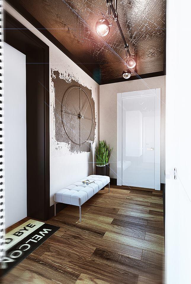 Zegar I Sciana Siedzonko Kwiaty W Wysokich Doniczkach House Interior Home Decor Home