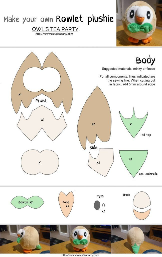 Free Rowlet sewing template | if i had a sewing machine | Pinterest ...