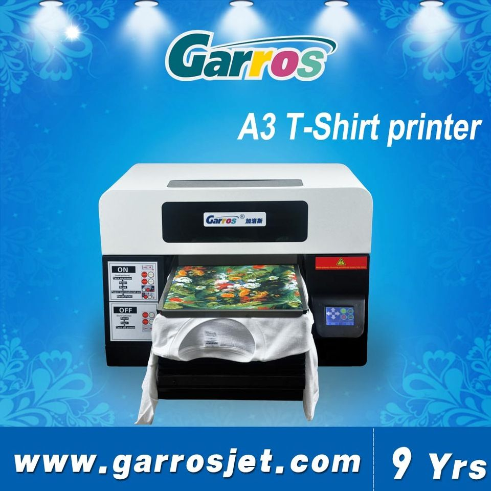 Top Selling Led Touch Screen A3 Digital Tshirt Printer For Clothes