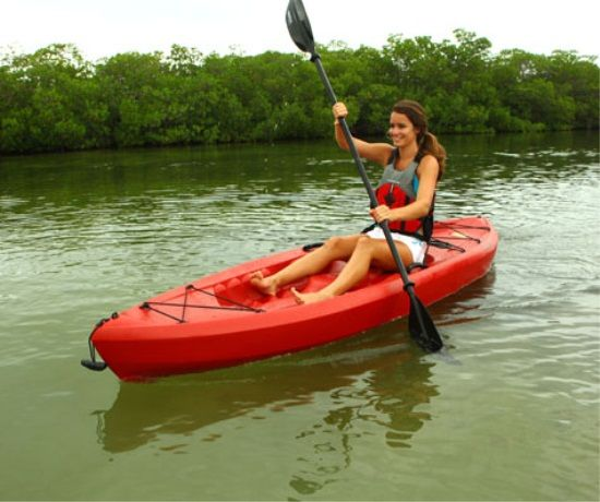 Lifetime kayaks 10 foot 90236 red tamarack sit on top for Lifetime fishing kayak