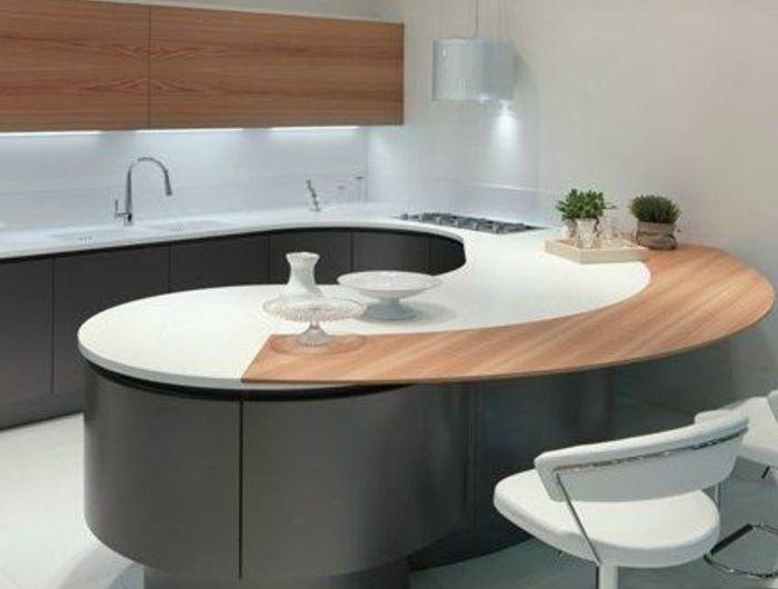 Plan De Travail Arrondi Ikea.La Cuisine Arrondie Dans 41 Photos Pleines D Idees