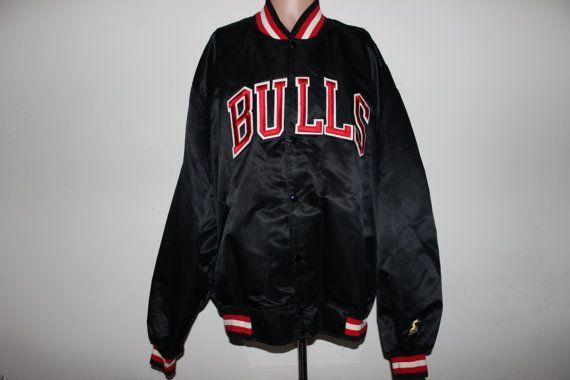 Rare Vintage Chicago Bulls Satin Starter Jacket Gold Edition Xxl Jackets Vintage Jacket Chicago Bulls