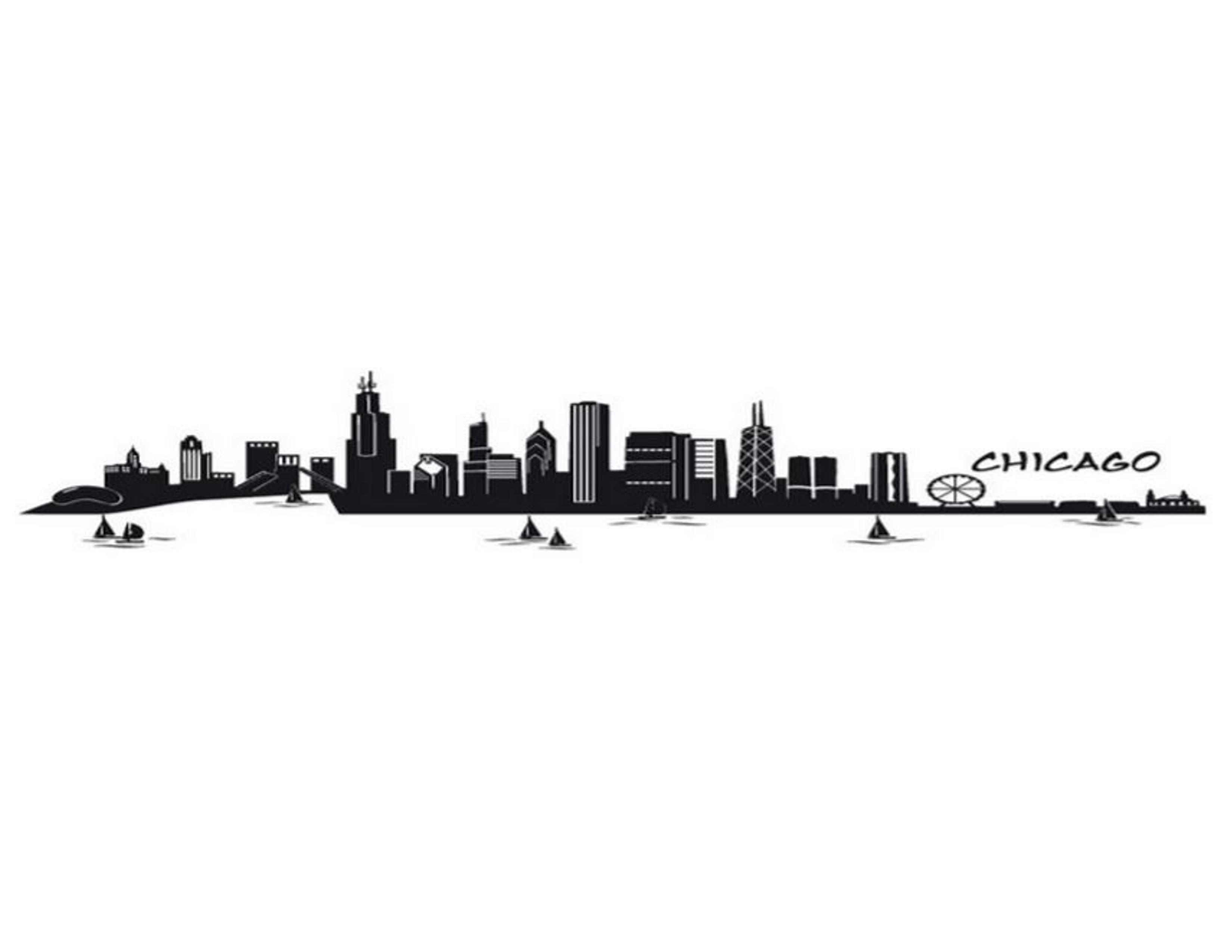 Chicago Skyline Cityyearchicagocivicengagement Painting 5 Indoor Teacherslounge Hallways Mural Chicagoskyline