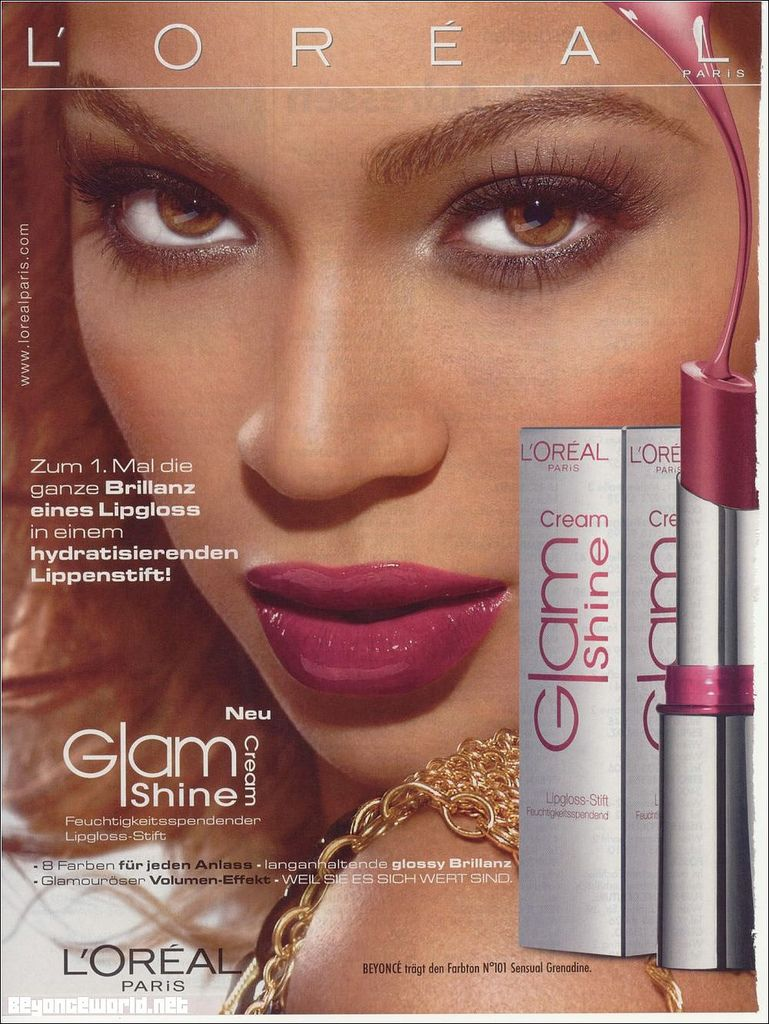 Beyonce for L'Oreal Glam. in 2019 African american